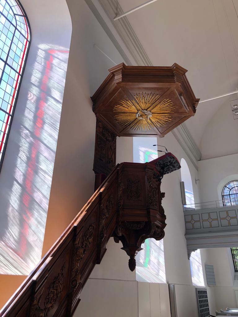 Kanzel in der Neanderkirche