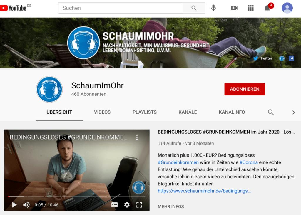 YouTube-Kanal SchaumImOhr
