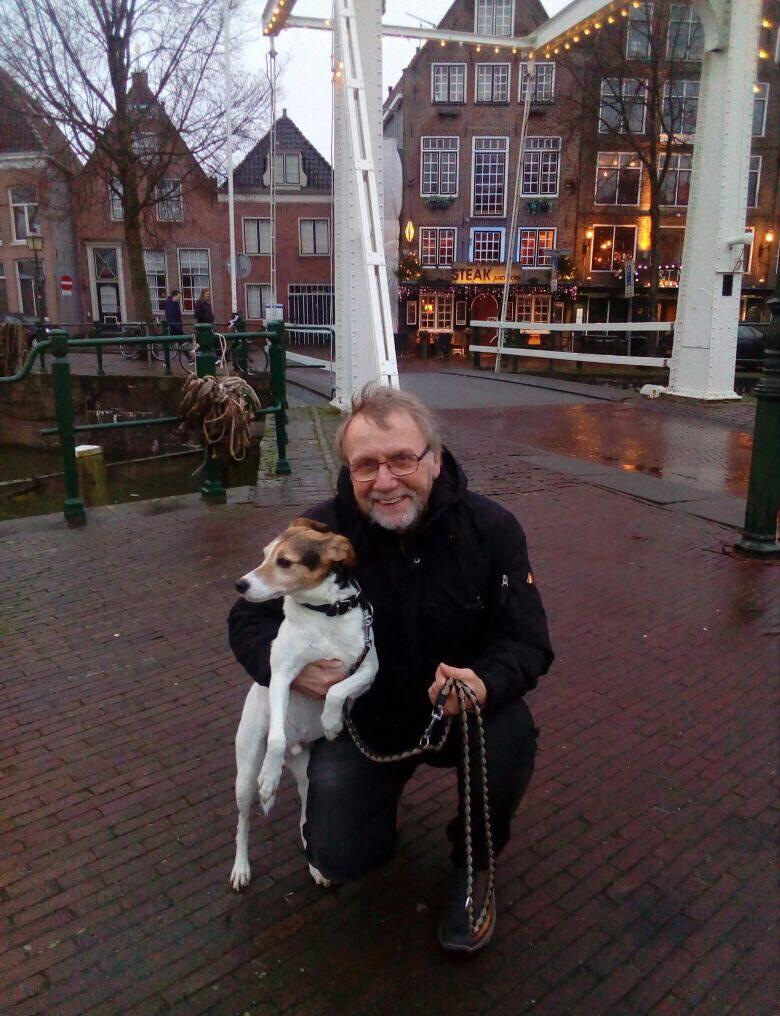 Achim mit Hund Nacho